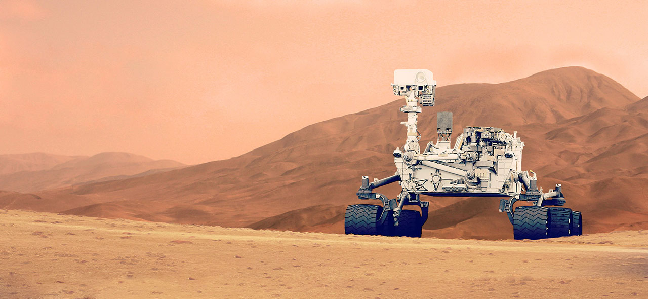 Curiosity Mars rover incorporating silicone protective materials